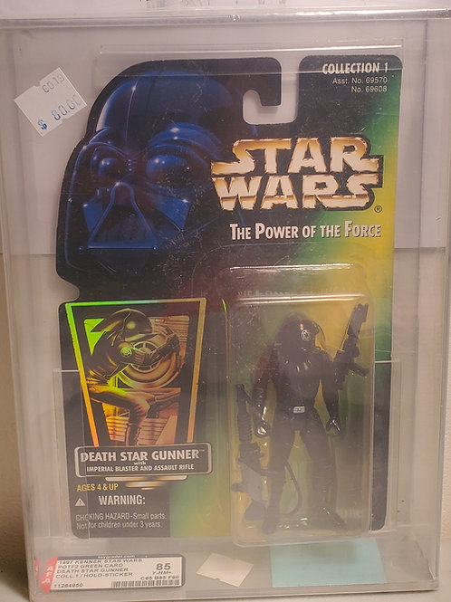 1997 Kenner POTF2 Green Card Hoth Death Star Gunner AFA Graded