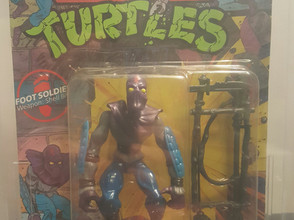 1988 Playmates TMNT 10 Back  AFA Graded 60Y-EX Foot Soldier Unpunched