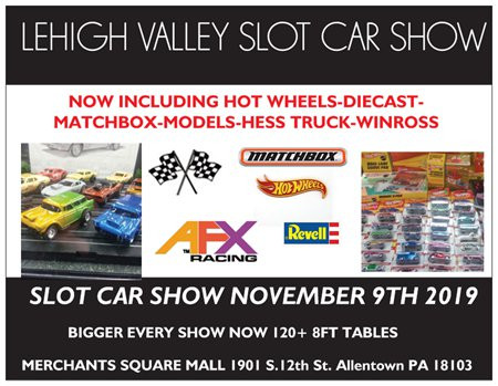 The Great Lehigh Valley Slot and Toy Car Show- Allentown Pa Held at Merchants Sqaure Mall
