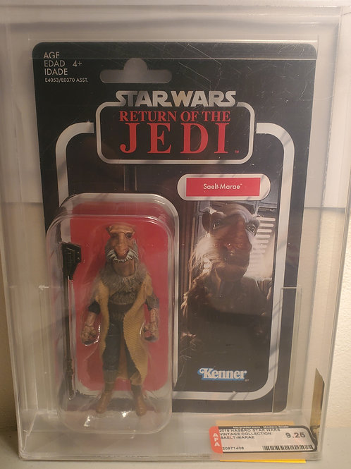 2018 Star Wars Vintage Collection VC128 Saelt Marae(Yackface) AFA Graded