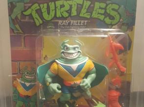 1991  TMNT 44  Back  AFA Graded 80NM Ray Fillet Yellow Shirt Blue V Unpunched