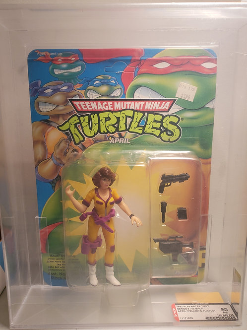 1992 Playmates TMNT Series 5/43 Back April (Yellow&Purple) AFA Graded Unpunched
