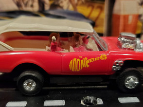 Monkees Ho Slot Car with tjet chassis