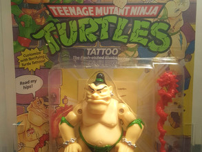 1991 Playmates TMNT 46 Back  AFA Graded 80NM Tattoo No Tattoo on Belly unpunched