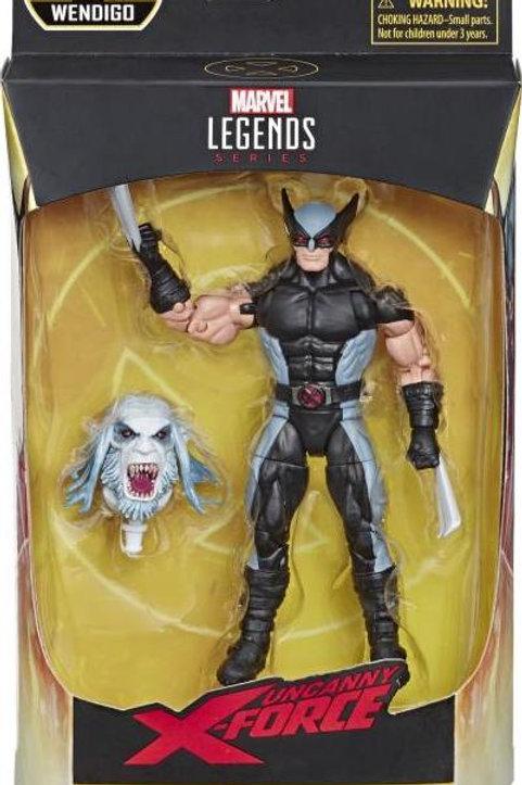 """Marvel Legends X-Force Wolverine """"Wendigo BAF"""" Action Figure"""