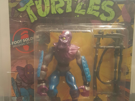 1988 Playmates TMNT 10 Back  AFA Graded 60EX Foot Soldier