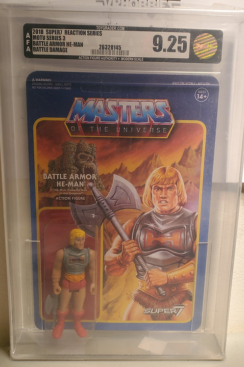 2018 Masters Of The Universe Super 7 Battle Armor Heman  AFA Graded