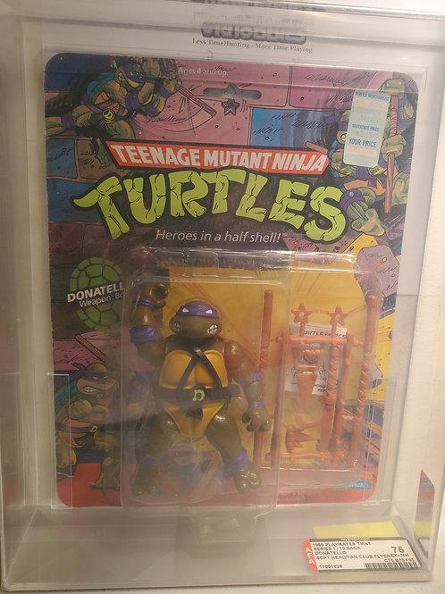 1988 Playmates TMNT Series 1/ 10 Back Donatello Soft Head Fan Club 75NM+