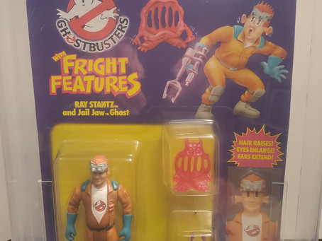 1988 Kenner Real Ghostbusters Series 3 Fright Features Ray Stantz AFA 80NM Unpunched.