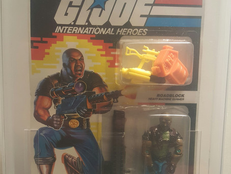1992 Funskool GI JOE Roadblock AFA Graded 85NM+ Russian Release