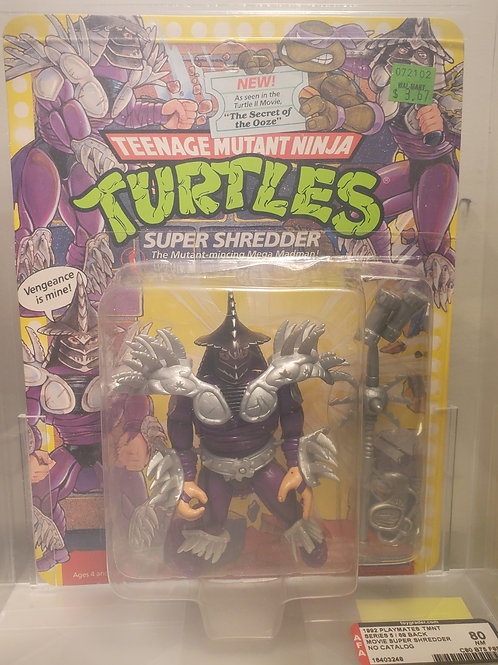 1992 Playmates TMNT Series 5/68 Back Movie Super Shredder  Unpunched