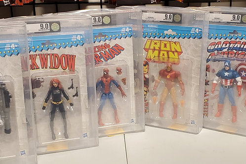 2017 Marvel Vintage Legends Series 1 Complete Set AFA Graded 9.0