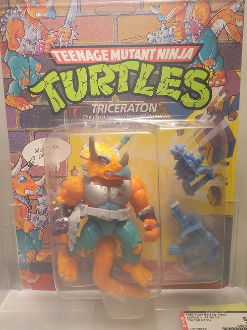 1990 Playmates TMNT Series 3/44 Back Triceraton Unpunched