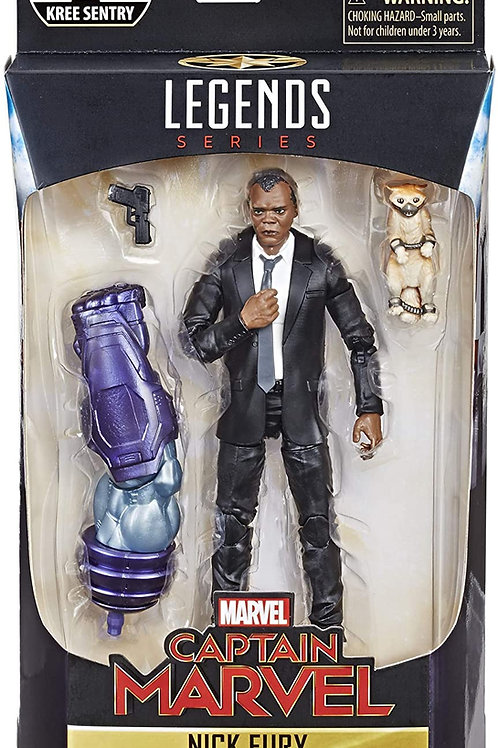 "Marvel Legends Captain Marvel Series Nick Fury"" Kree Sentry BAF""Action Figure"