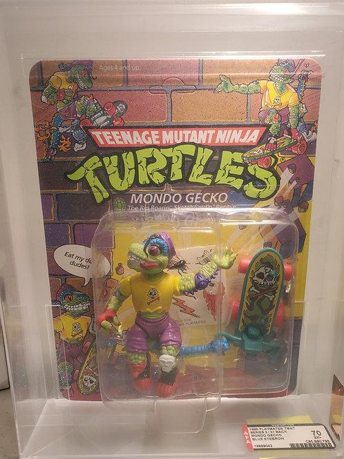1990 Playmates TMNT Series 3 / 31 Back Mondo Gecko Blue Eyebrow Unpunched