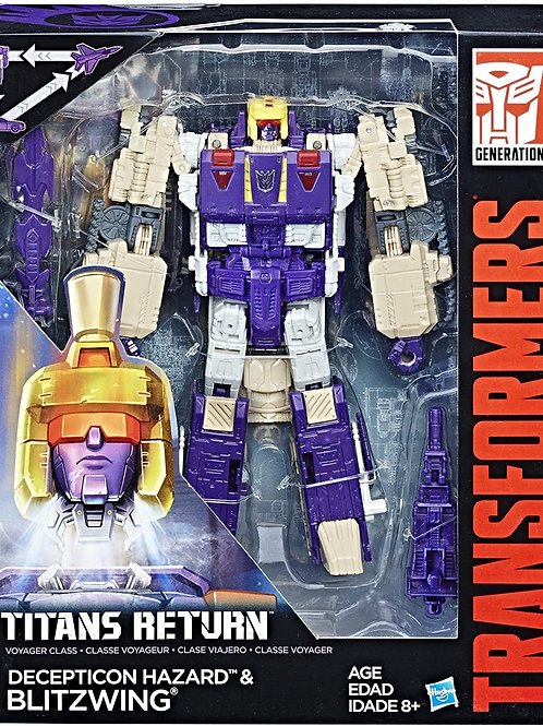 Transformers Generations Titans Return Decepticon Hazard and Blitzwing