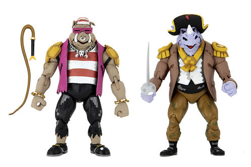7″ Scale Action Figure – Pirate Rocksteady & Bebop 2-Pack
