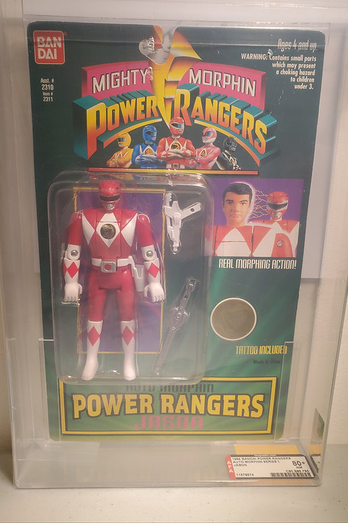 1994 Bandai Power Rangers Auto Morphin Series 1 Jason 80nm+ Afa Graded