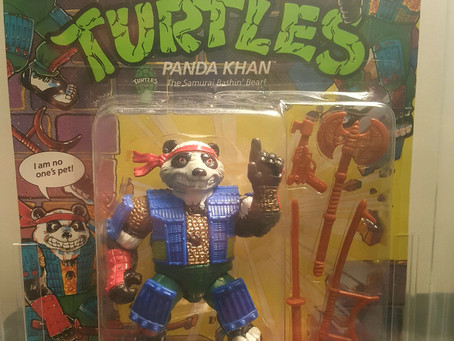 1990 Playmates TMNT 37 Back  AFA Graded 80NM Panda Khan Dark Grey Face