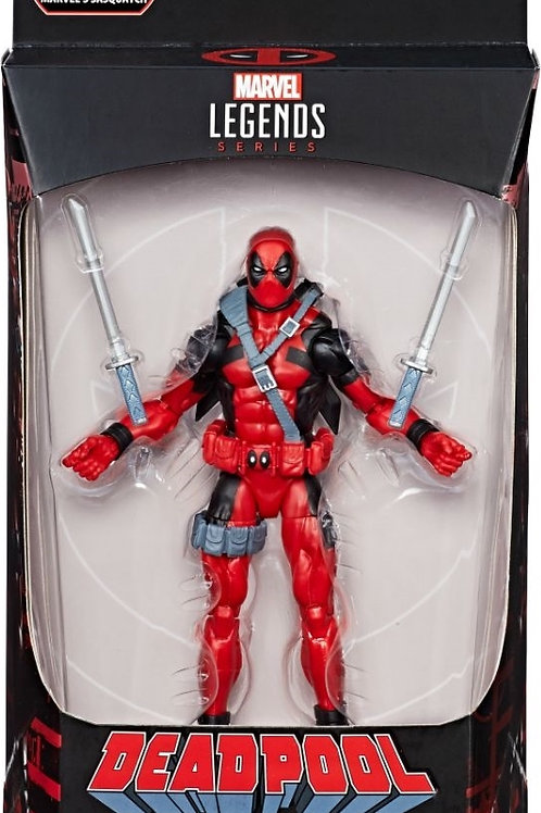 "Deadpool Marvel Legends 6-Inch Wave 1 Deadpool Red Costume ""Sasquatch BAF"""