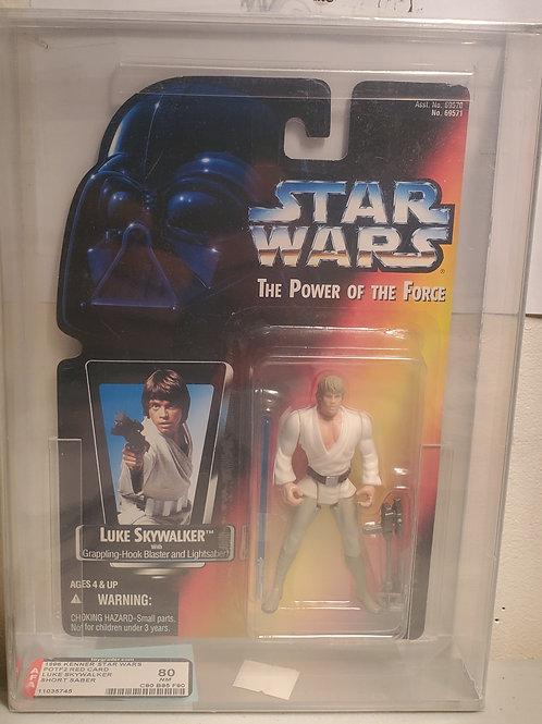 1996 Kenner POTF2 Red Card Luke Skywalker AFA Graded 80NM