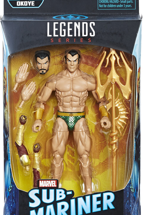 "Marvel Legends Black Panther  Sub Mariner (Namor)with Okoye ""BAF"""