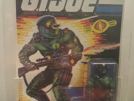 1992 Funskool GI Joe  Night-Viper AFA Graded 85NM+ Russian Release