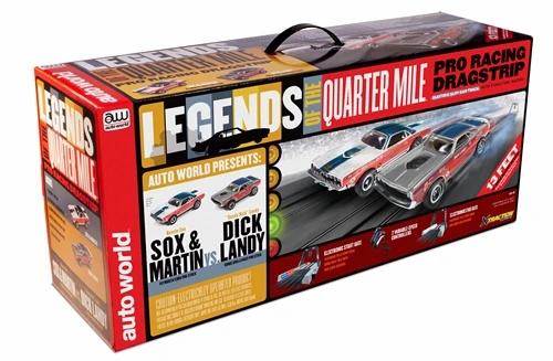 Auto World 13' Legends of the Quarter Mile Drag Slot Race Set HO Scale  SKU : SRS332 Regular price $159.99