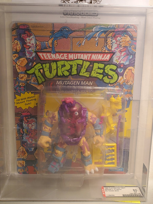 1990 Playmates TMNT Series 3/37Back Mutagen Man Unpunched