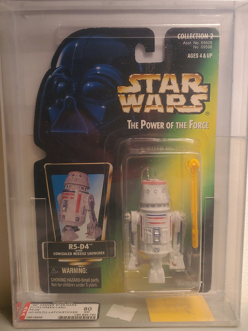 1997 Kenner POTF2 Green Card R5-D4  AFA Graded