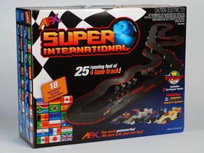 Tomy AFX Super International 4 Lane Ho Slot Car Raceway 21018 Set