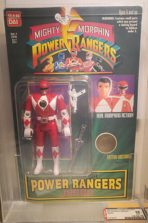 1994 Bandai Power Rangers Auto Morphin Series 1 Jason 85nm+ Afa Graded
