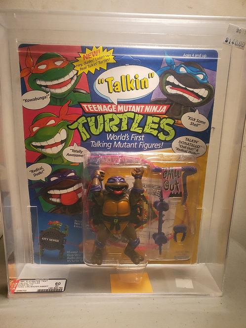 1991 Playmates TMNT Talkin Turtles Donatello 60Ex NM A