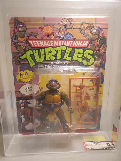 1991 Playmates TMNT Series 4 / 44 Back Donatello (St Shell) 70Y-EX+ NM AFA Gr