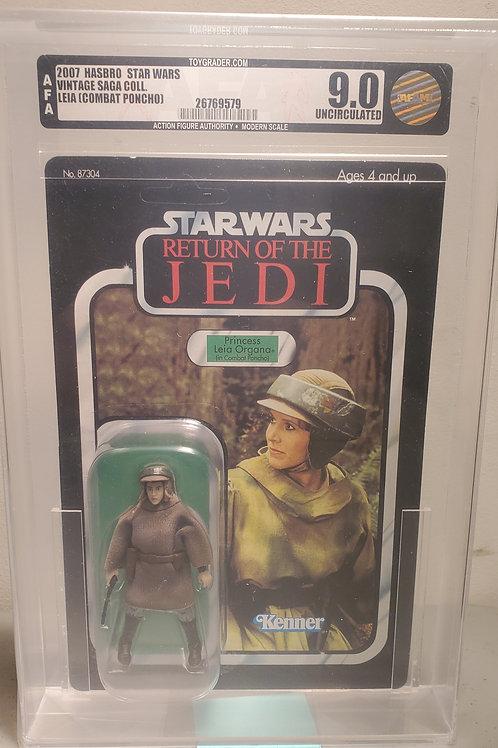 2007 Star Wars Vintage Saga  Princess Leia (Combat Poncho) 9.0U AFA Graded