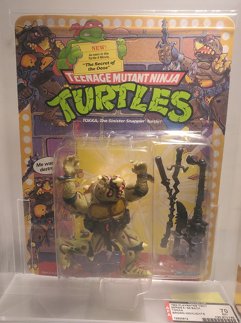 1992 Playmates TMNT Series 5/68 Back Tokka (Grey Highlights) AFA Graded