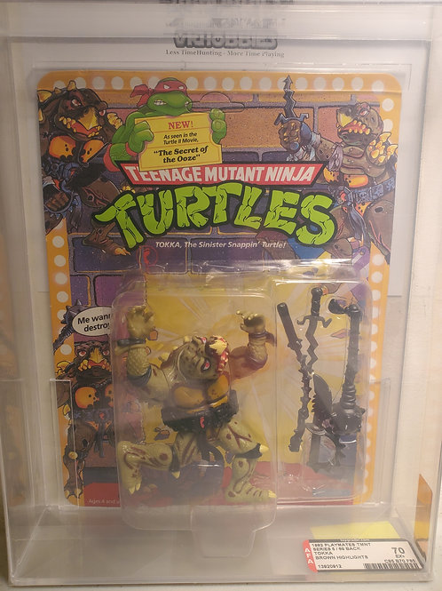 1992 Playmates TMNT Series 5/68 Back Tokka (Brown Highlights) AFA Graded