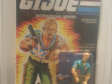 1992 Funskool GI JOE Chuckles AFA Graded 85Y-NM+ Russian Release
