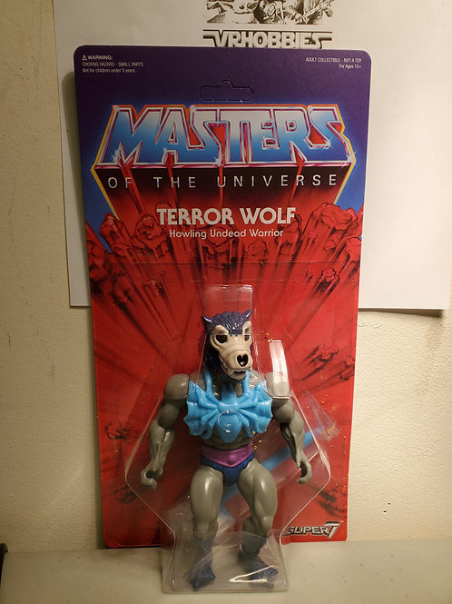 2016 SDCC Masters Of The Universe Super 7 Terror Wolf Unpunched