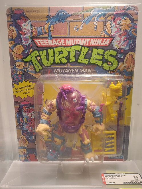 1990 Playmates Series 3 / 37 Back Mutagen Man Unpunched
