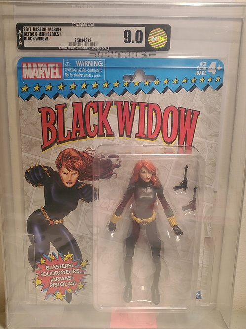2017 Marvel Vintage Legends Series Black Widow AFA Graded 9.0