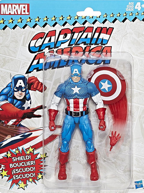 Marvel Legends Vintage Wave 1 Captain America Action Figure