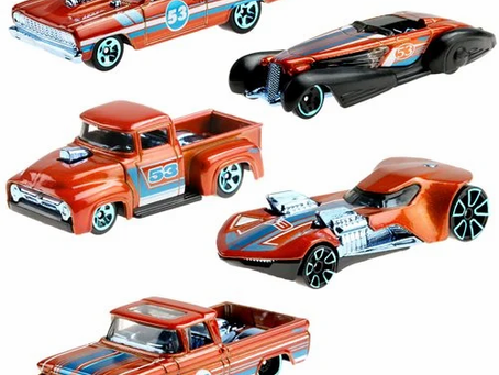 Hot Wheels Blue and Satin 2021 Vehicle Case