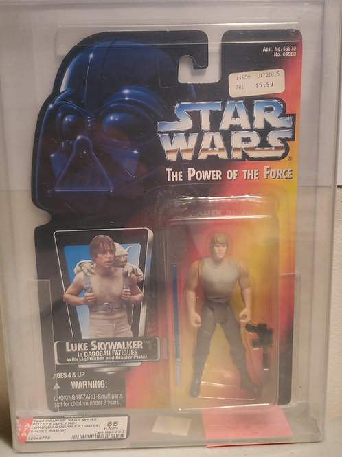 1996 Kenner POTF2 Red Card Luke Skywalker AFA Graded 85NM