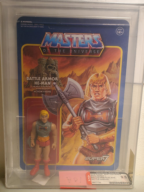 2018 Masters Of The Universe Super 7 Battle Armor Heman  AFA Graded