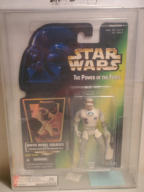 1997 Kenner POTF2 Green Card Hoth Rebel Soldier AFA Graded