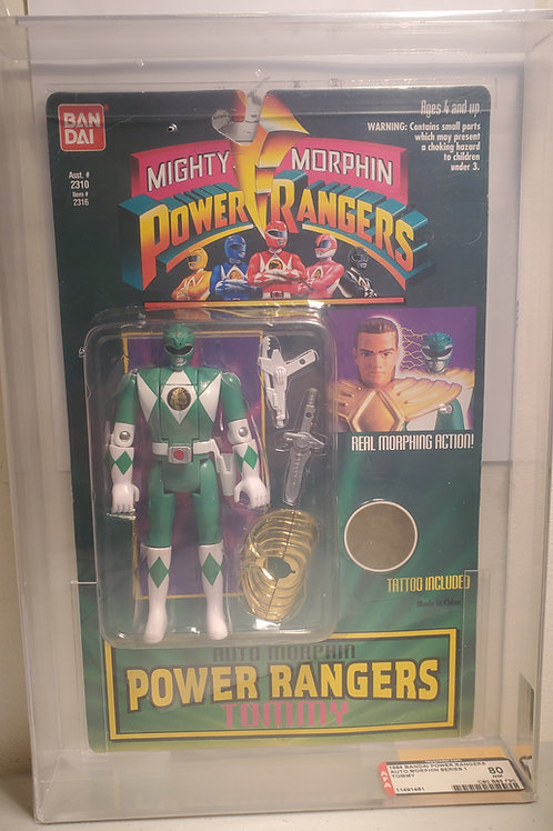 1994 Bandai Power Rangers Auto Morphin Series 1 Tommy 80NM  Afa Graded