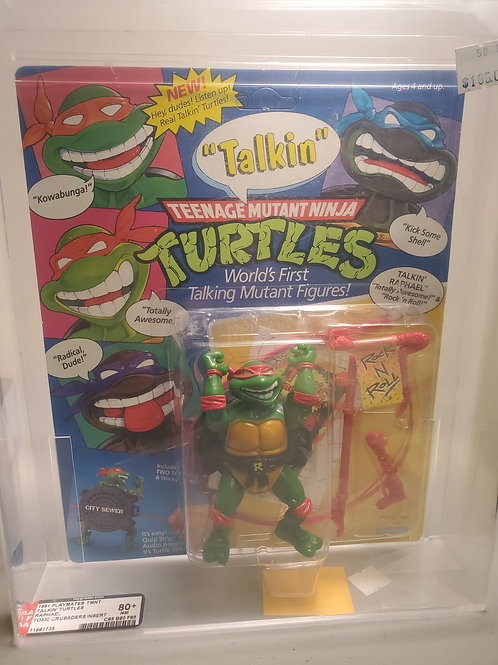 1991 Playmates TMNT Talkin Turtles Raphael 80E+NM A