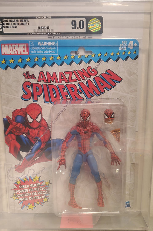 2017 Marvel Vintage Legends Series Spiderman AFA Graded 9.0