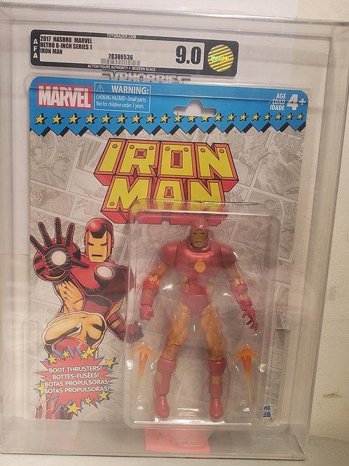 2017 Marvel Vintage Legends Series Iron Man AFA Graded 9.0